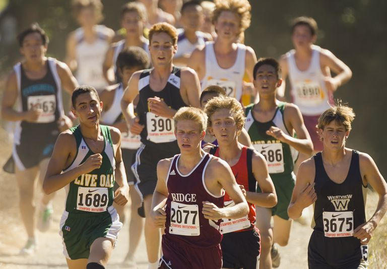 High school cross-country competitors