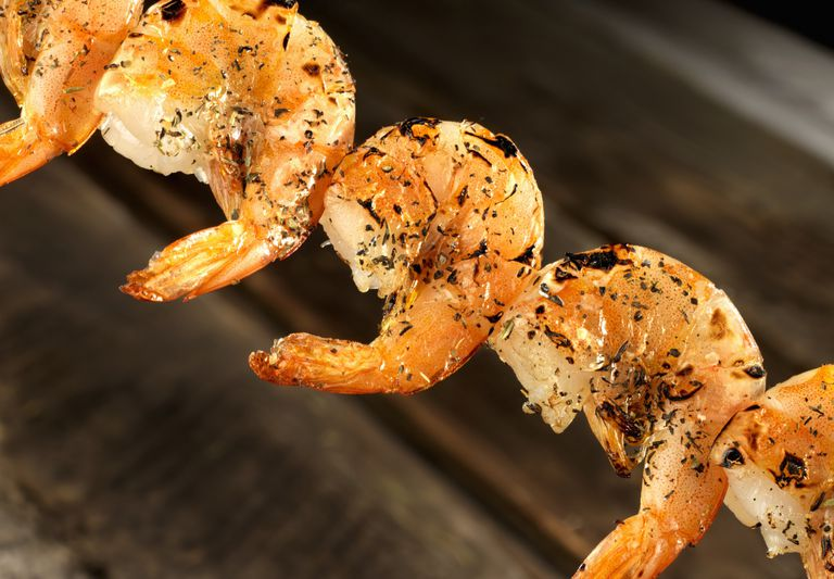 Grilled Shrimp close up