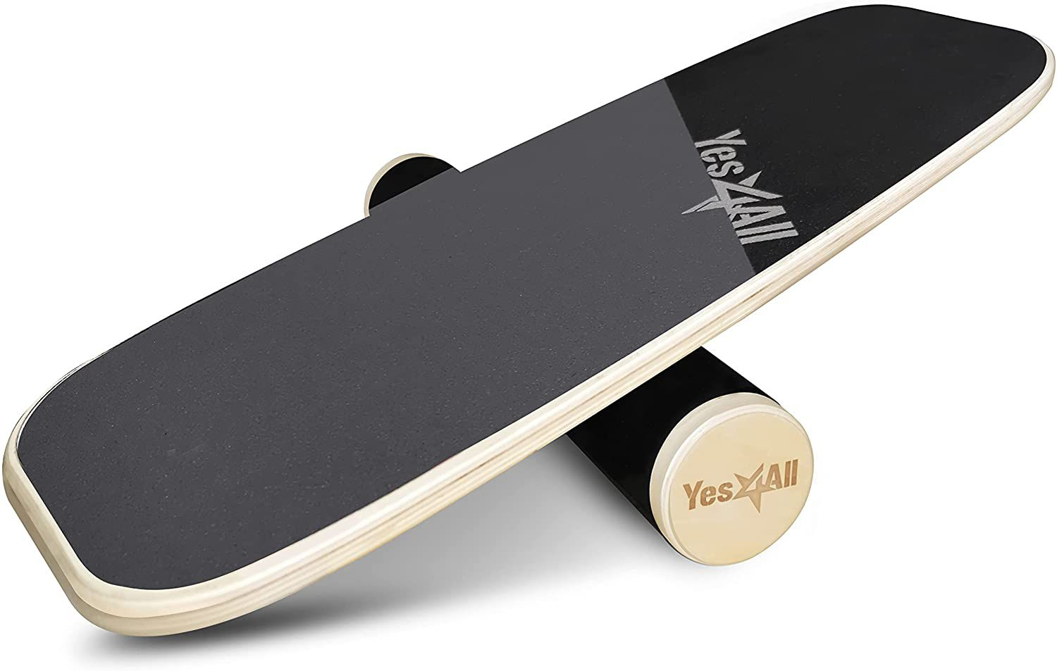 Yes4All Balance Board Trainer Wooden with Adjustable Stoppers