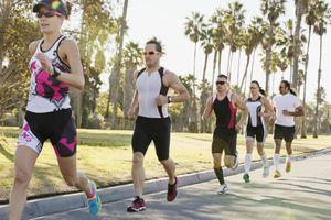 Runners in sun