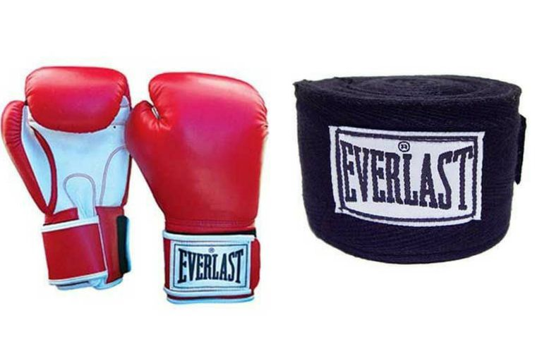boxing gloves and wraps