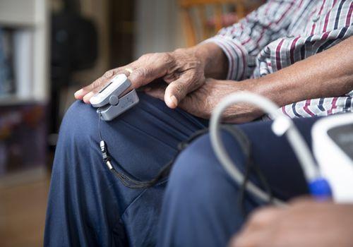 man testing blood pressure