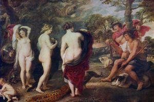 Ruben's painting, Judgment of Paris
