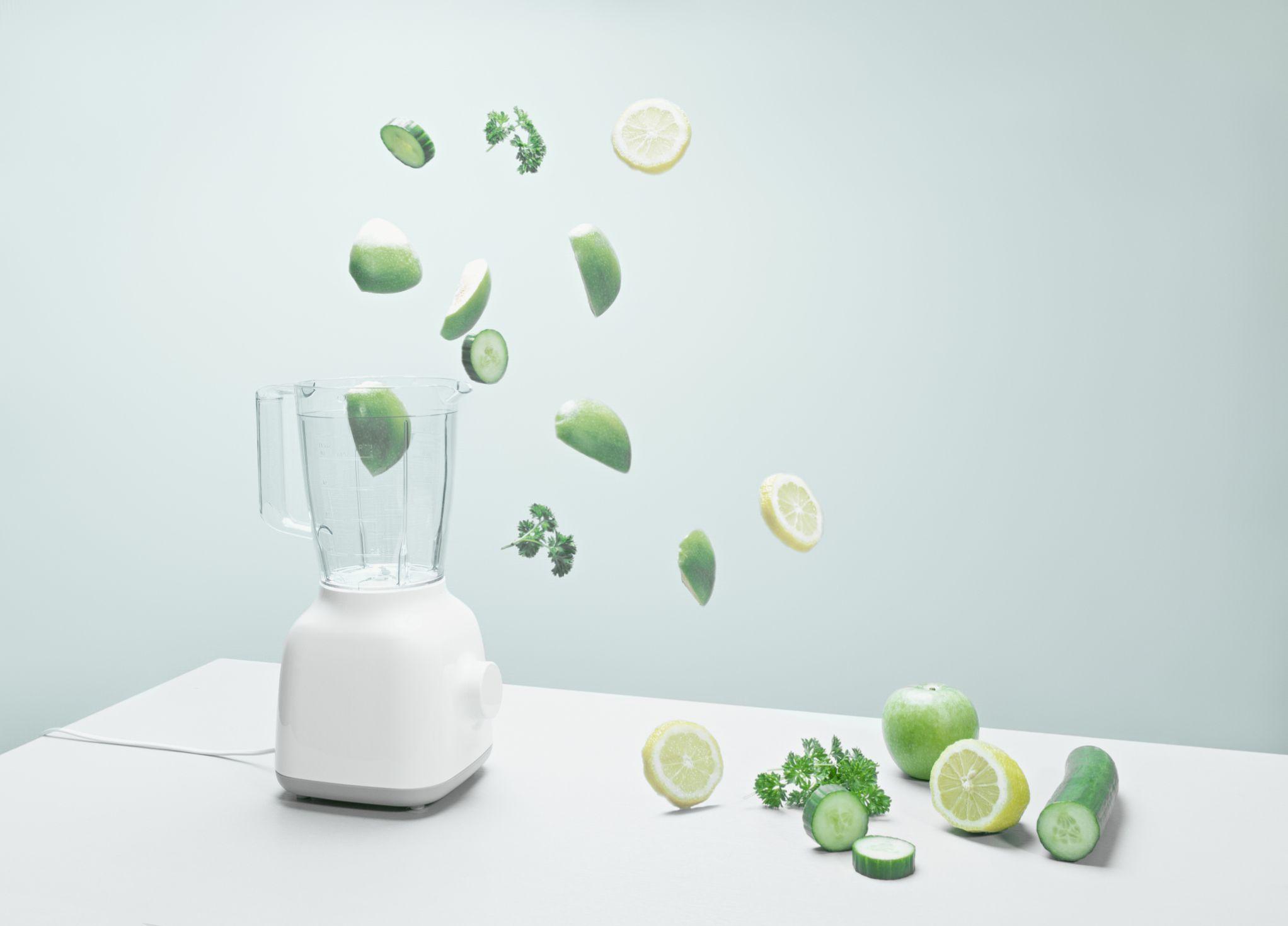 Blender and fruits