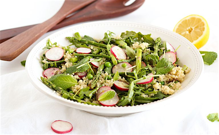 spring vegetable quinoa salad