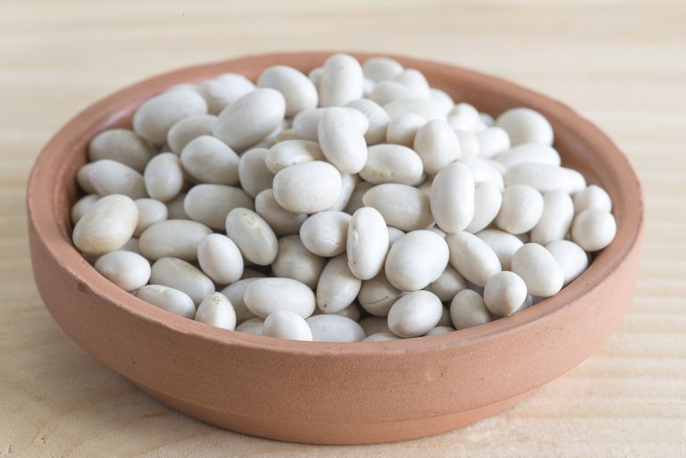 White beans up-close.