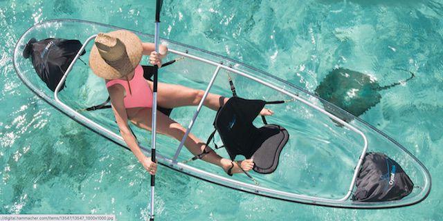Canoa Kayak para dos personas Hammacher Schlemmer