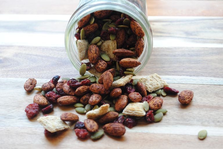 Pumpkin pie spice almond trail mix