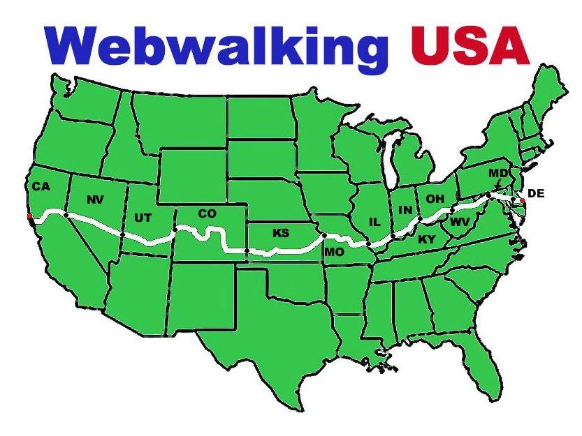 Webwalking USA Virtual Walking Log Program