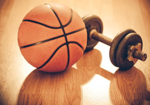 Basketball and Dumbbell
