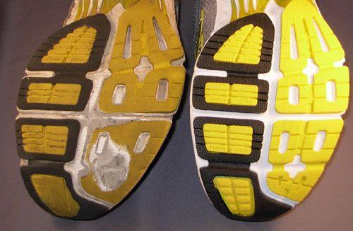 Patrón de desgaste de calzado neutral