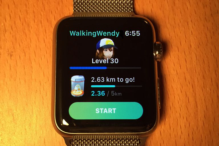 Pokemon Go Apple Watch App Start Screen