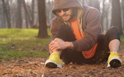 Man with running injury