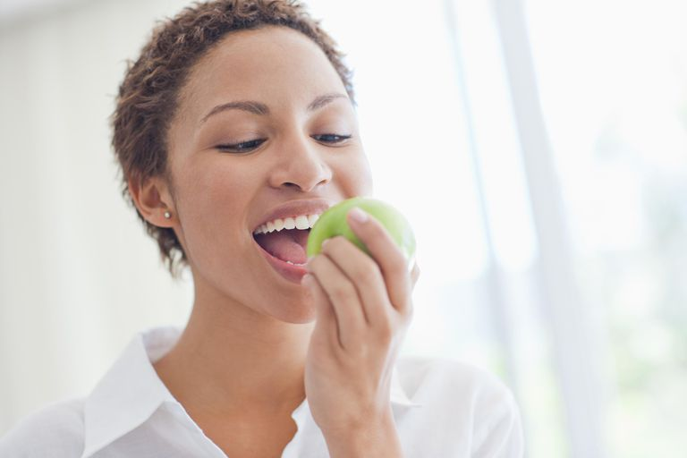 Apples are nutrient dense because they have lots of vitamins, minerals, and fiber.