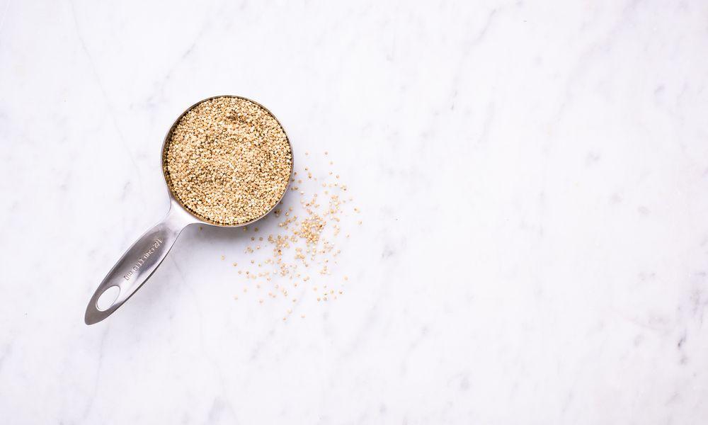 Quinoa in a measuring cup