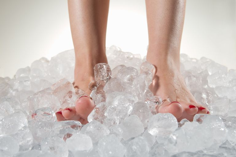 Cooling Feet on Ice