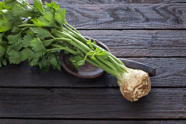 Celeriac with stalk