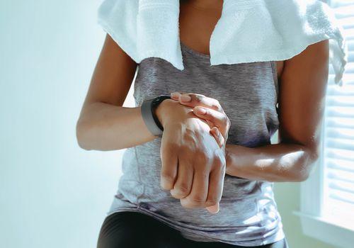 Sweaty athlete