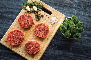 Beef steaks and veggies