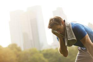 Man resting after a run