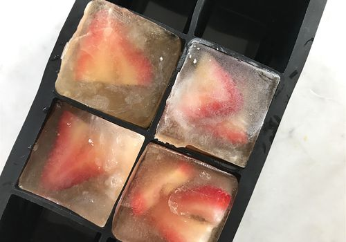 Strawberry Green Tea Ice Cubes