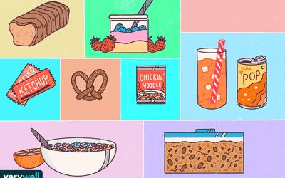 Sugary and carbs items