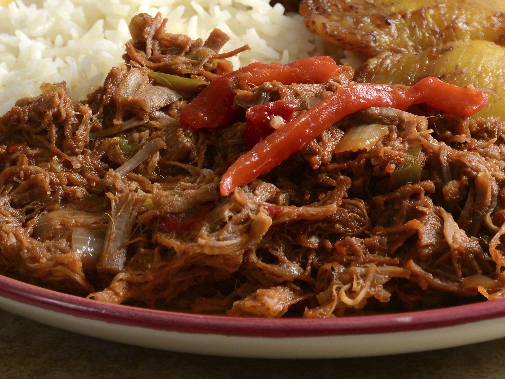 Crock Pot Ropa Vieja Beef Peppers Onions Recipe