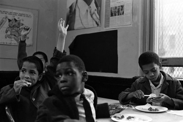 Black Panther Party's free breakfast program for children.