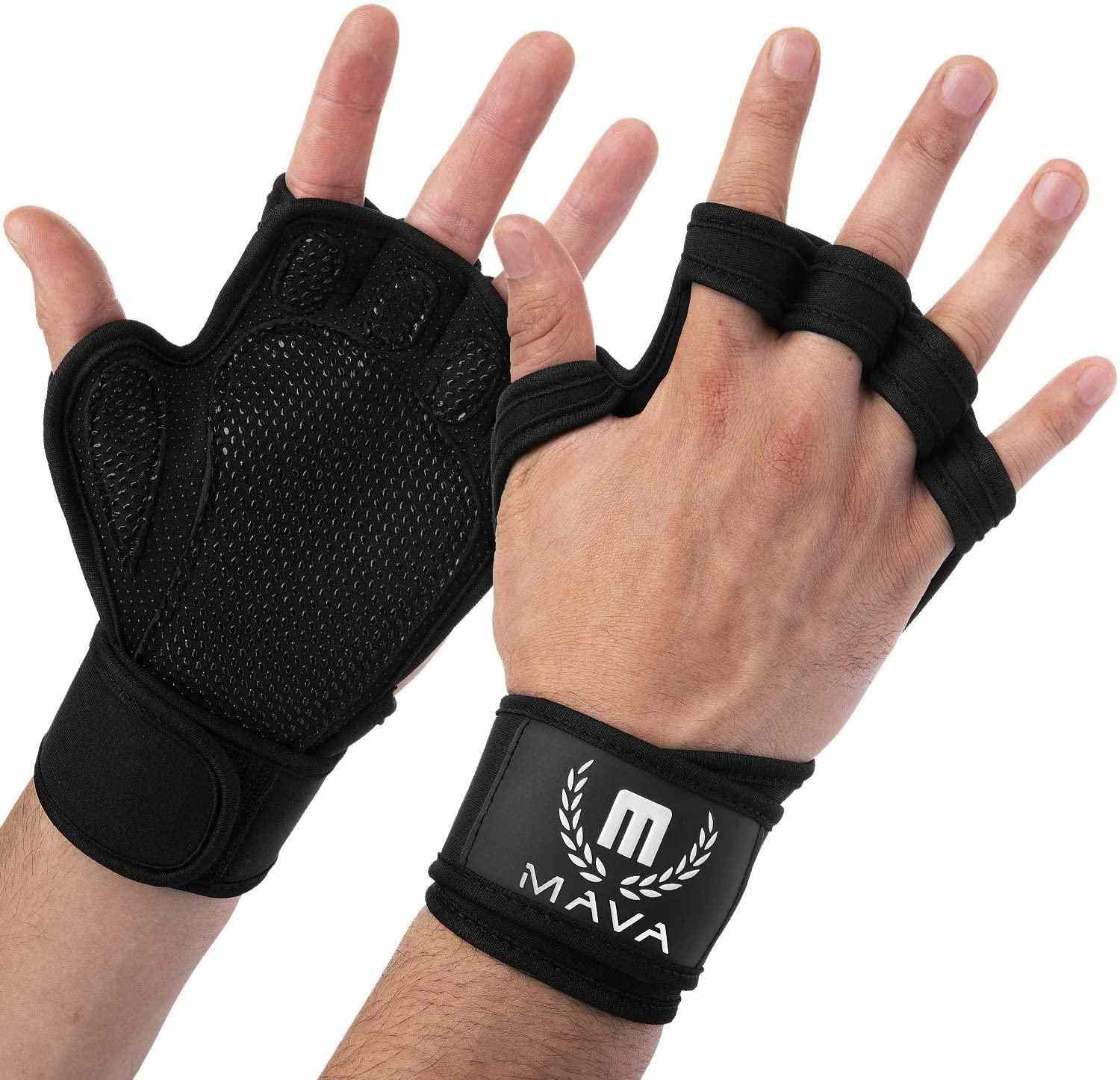 Mava Sports Ventilated Workout Gloves with Integrated Wrist Wraps
