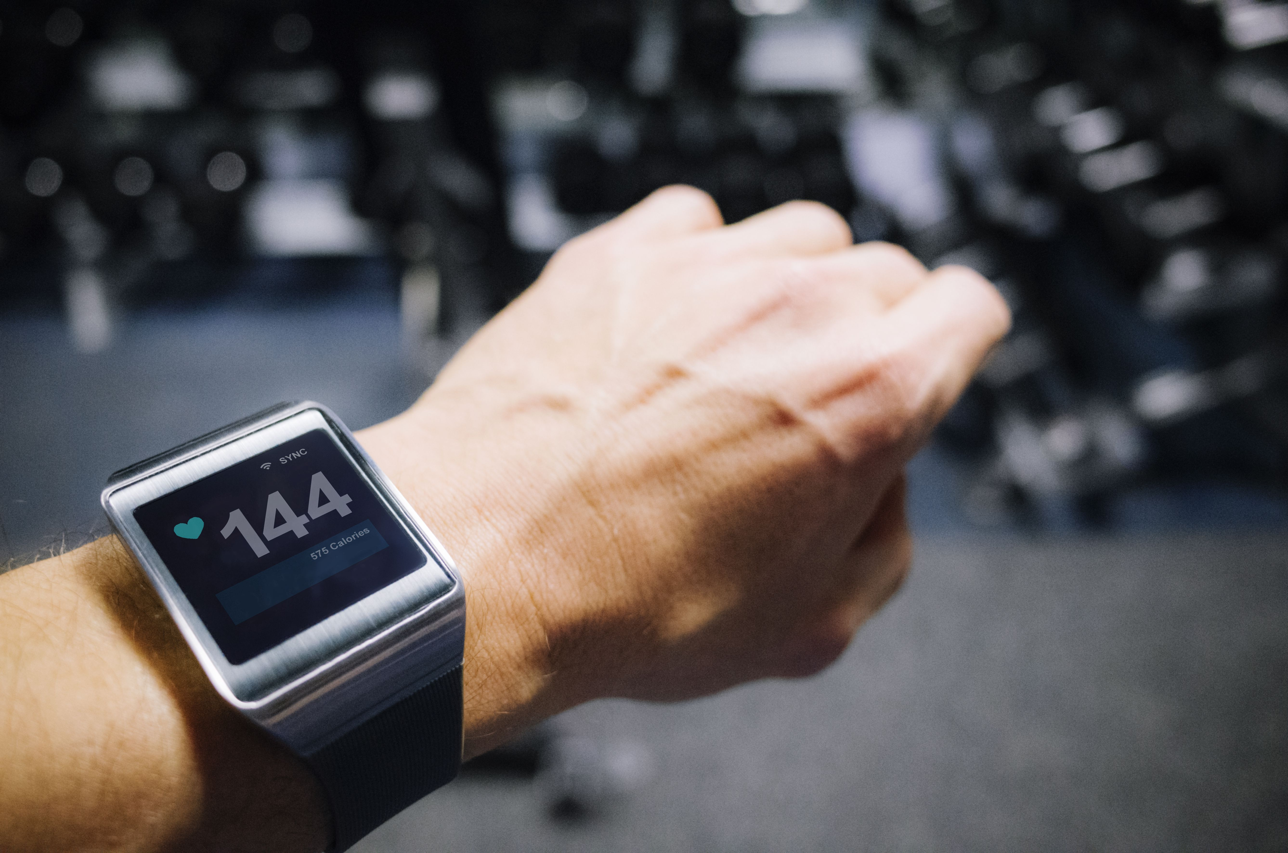 Smartwatch showing pulse.