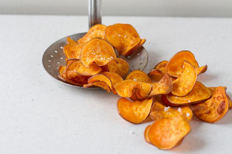 Healthy Homemade Sweet Potato Chips Recipe