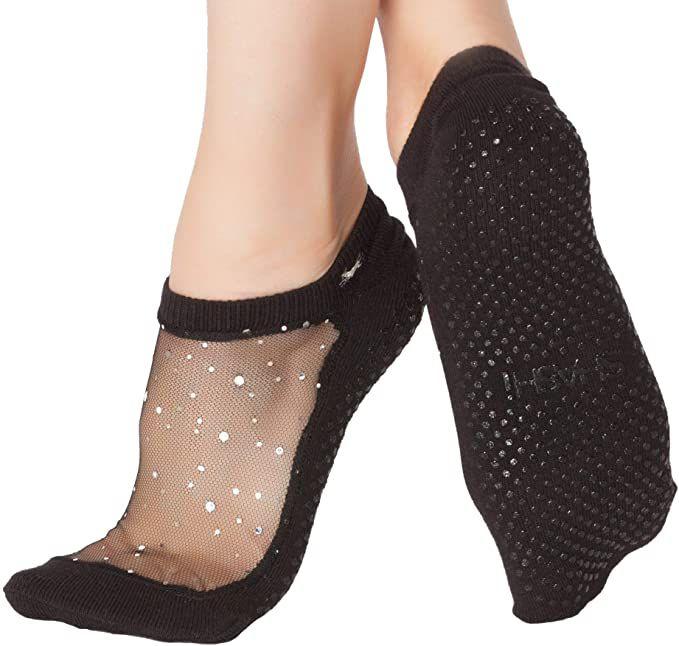 SHASHI Star Women's Glitter Grip Socks