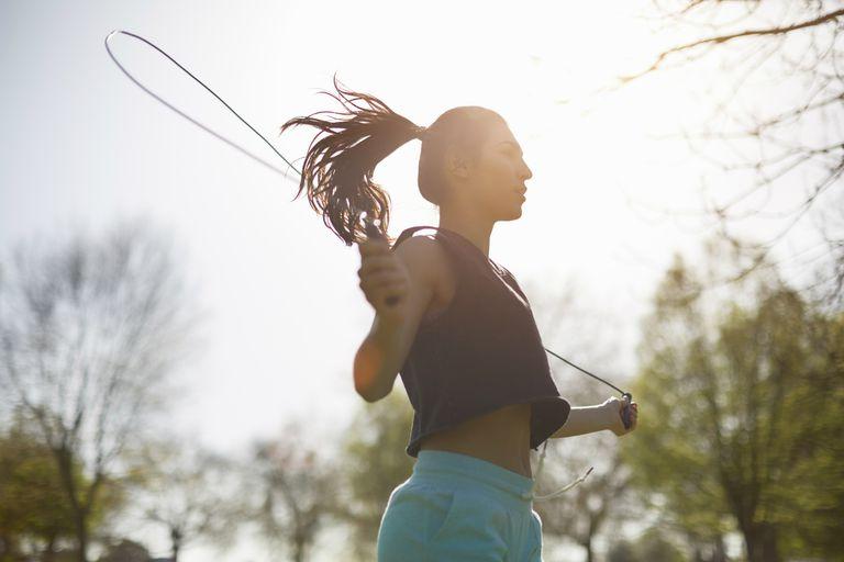 Woman jump roping