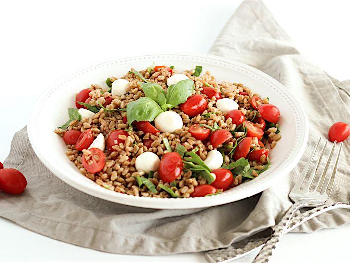 Ancient Grains Tomato Basil Farro Salad