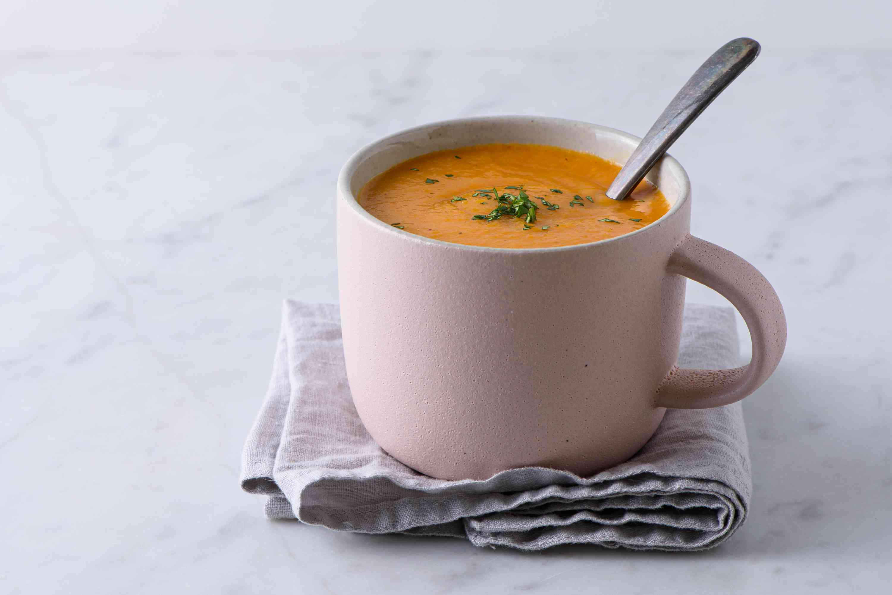 cup of soup in a mug