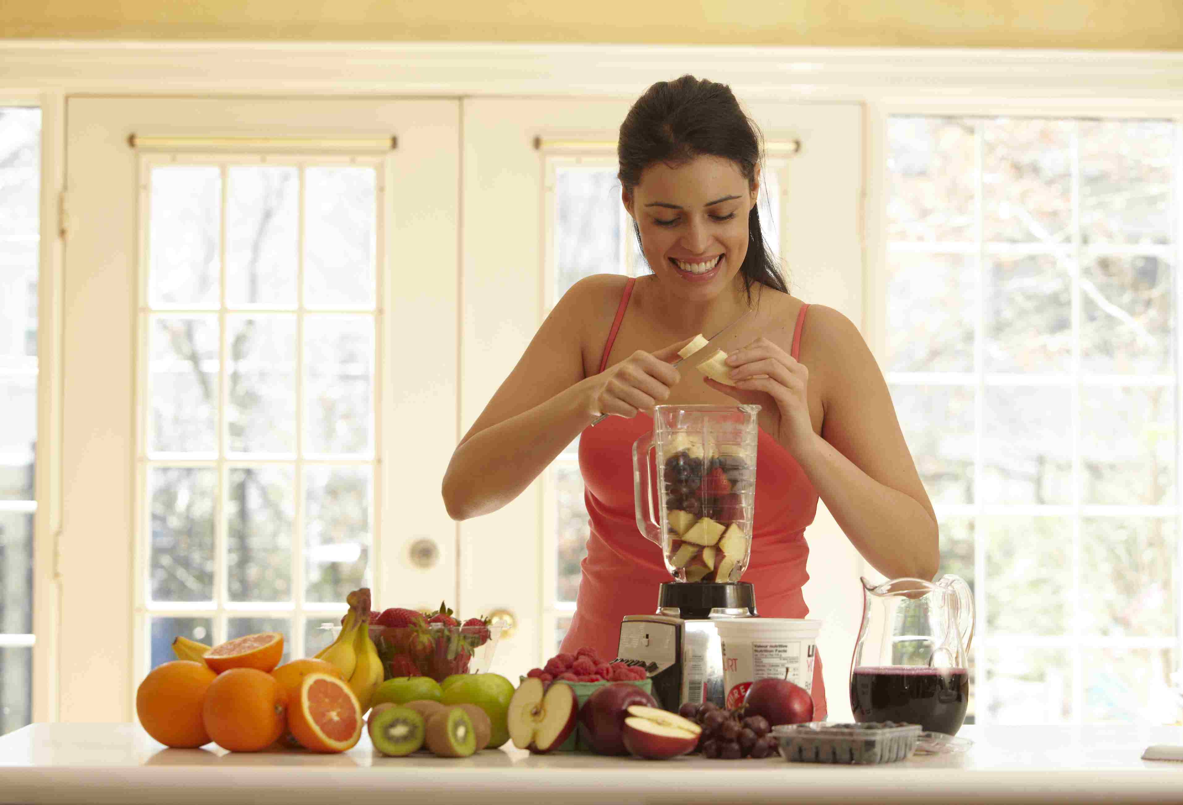 Make a smoothie to get more fruit in your diet.