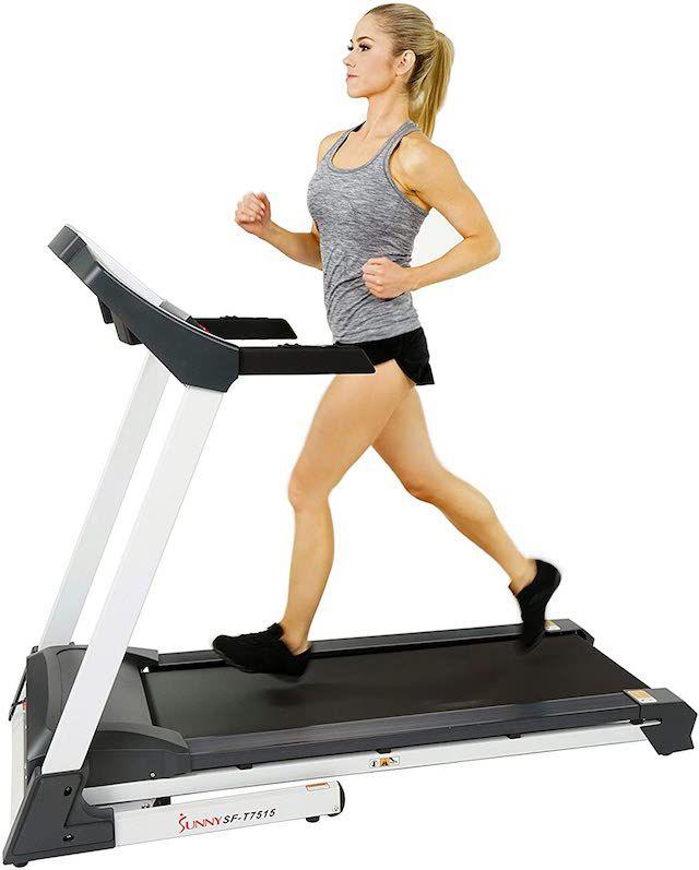 Sunny Health & Fitness SF-T7515 Smart Treadmill with Auto Incline