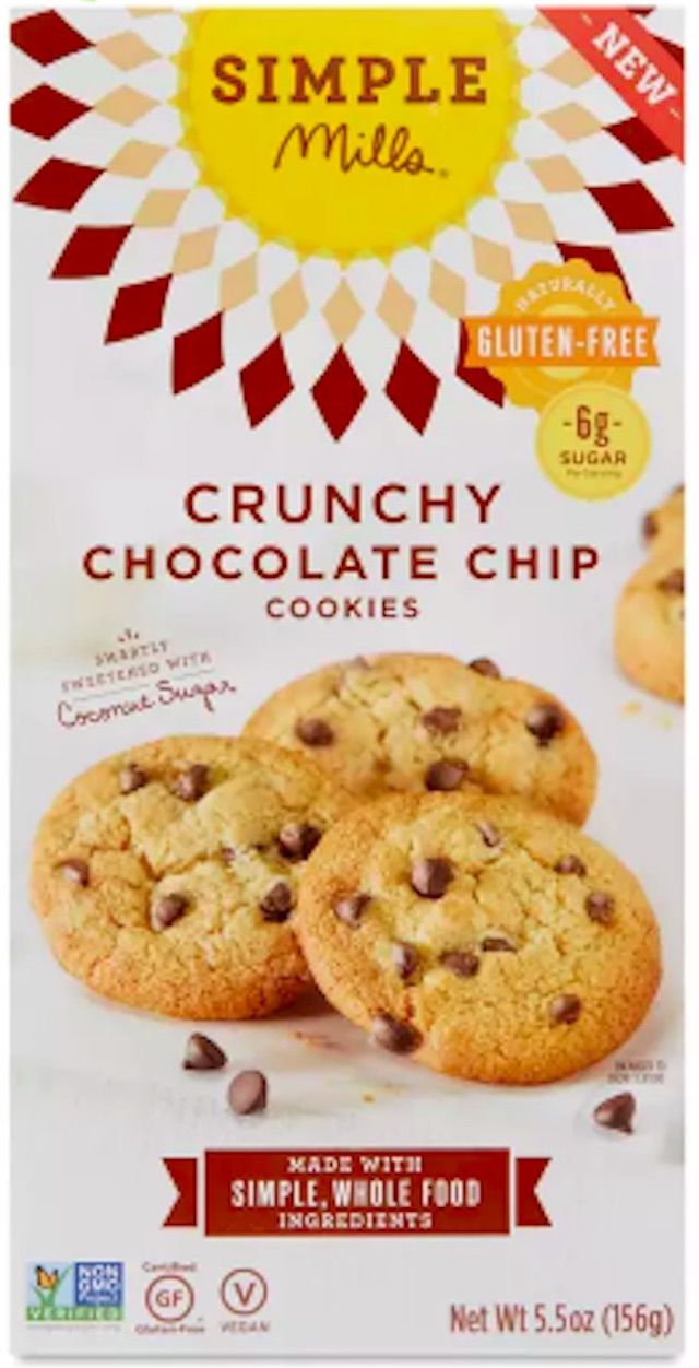 Simple Mills Crunchy Chocolate Chip Cookies