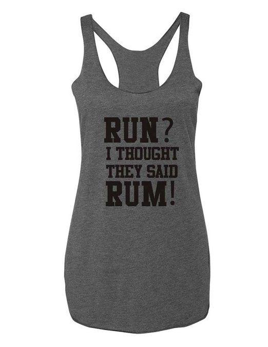 Run or rum t-shirt