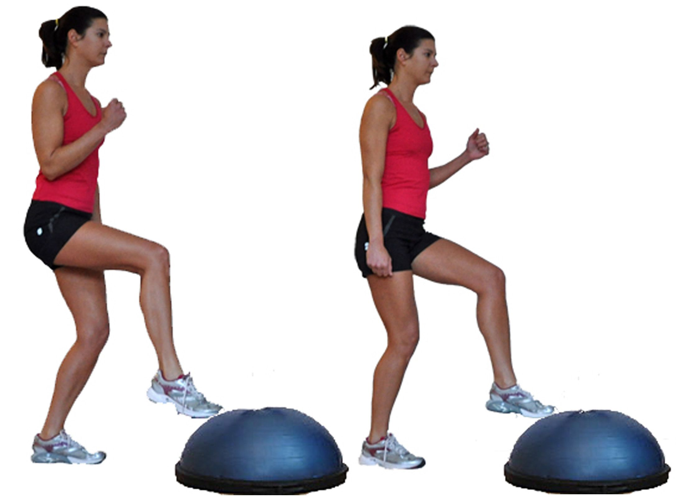 Cardio Strength Circuit Challenge Workout Arms Legs Abs 1 Toe Taps To Bosu