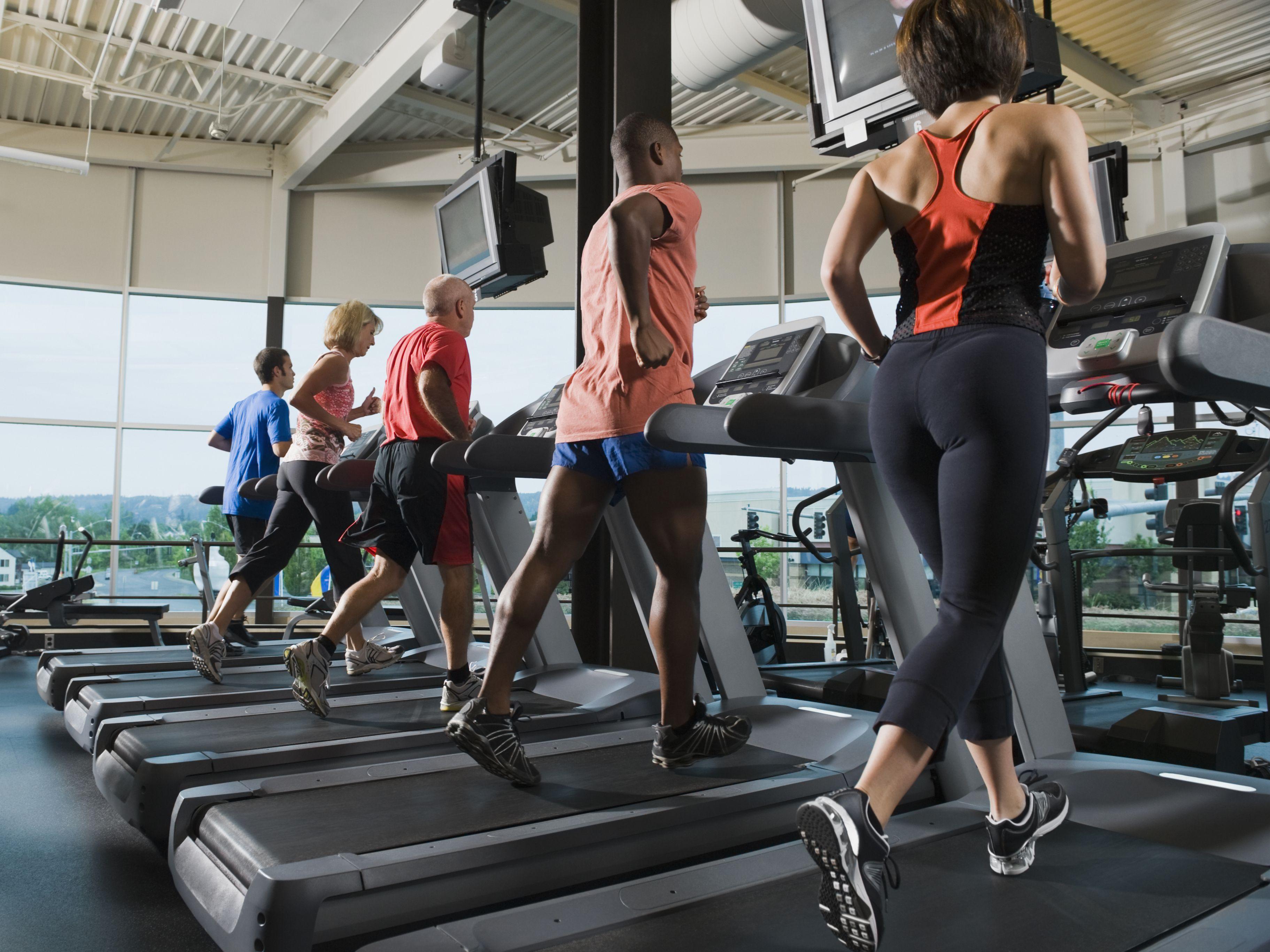 runners on treadmills
