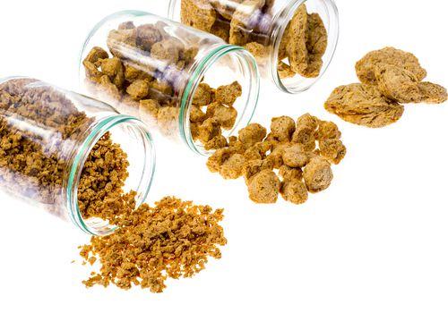 diferentes tipos de proteína vegetal texturizada