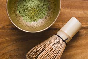 Green Matcha Tea Leaves