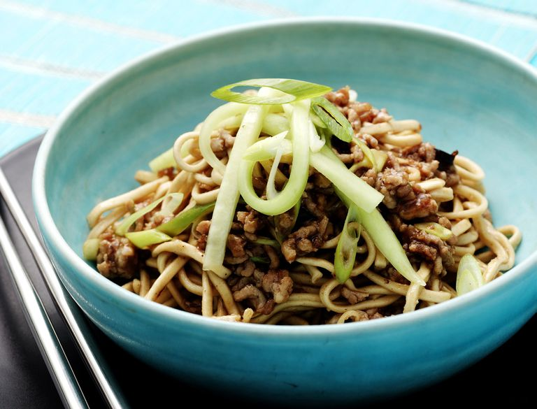 Asian Noodles with Ground Pork
