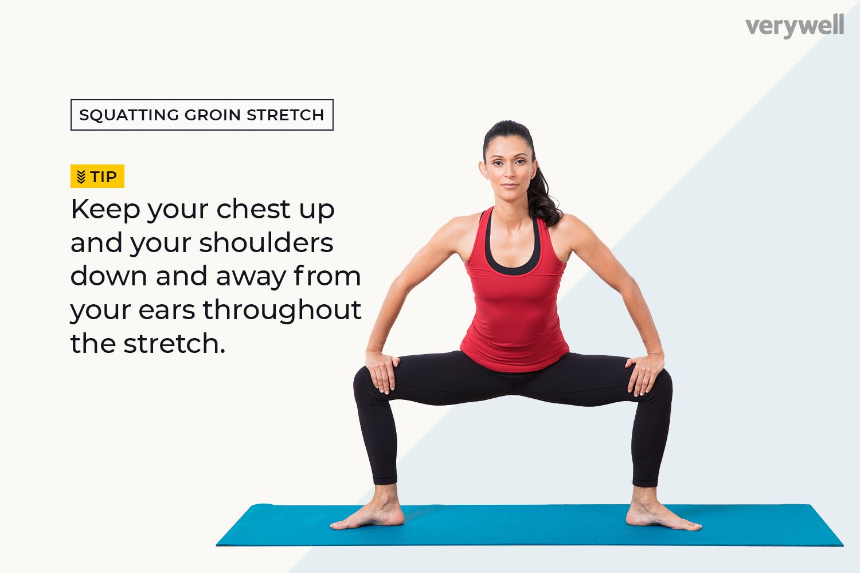Squatting Groin Stretch