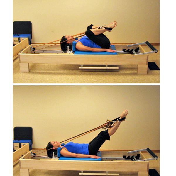 pilates reformer exercise - frog