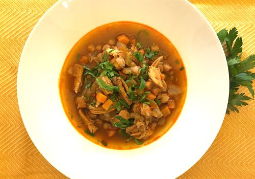 Chickpea and chicken soup