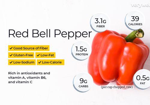 información nutricional del pimiento rojo y beneficios para la salud
