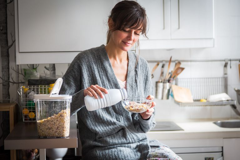 Woman eating her fiber