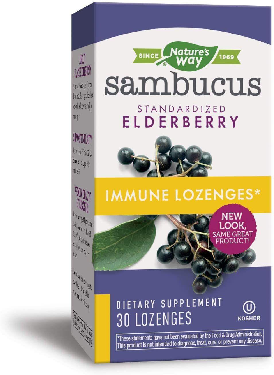 Nature's Way Sambucus Elderberry Immune Lozenges